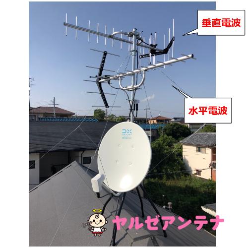 兵庫県川西市 S様 地デジヤギ式アンテナBSCS4K8K工事②