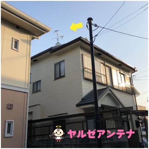 兵庫県川西市 S様 地デジヤギ式アンテナBSCS4K8K工事③